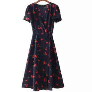 Realisation par dress cherry navy blue XS